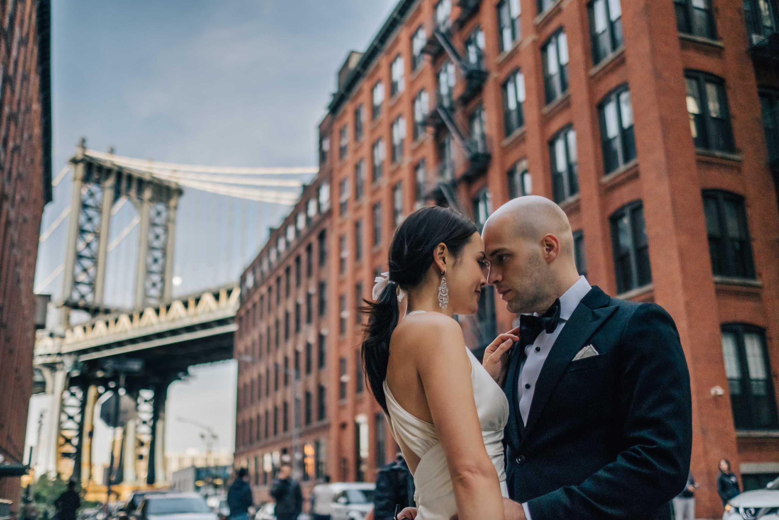 Melissa & Peter's Wedding Portraits, Brooklyn, New York
