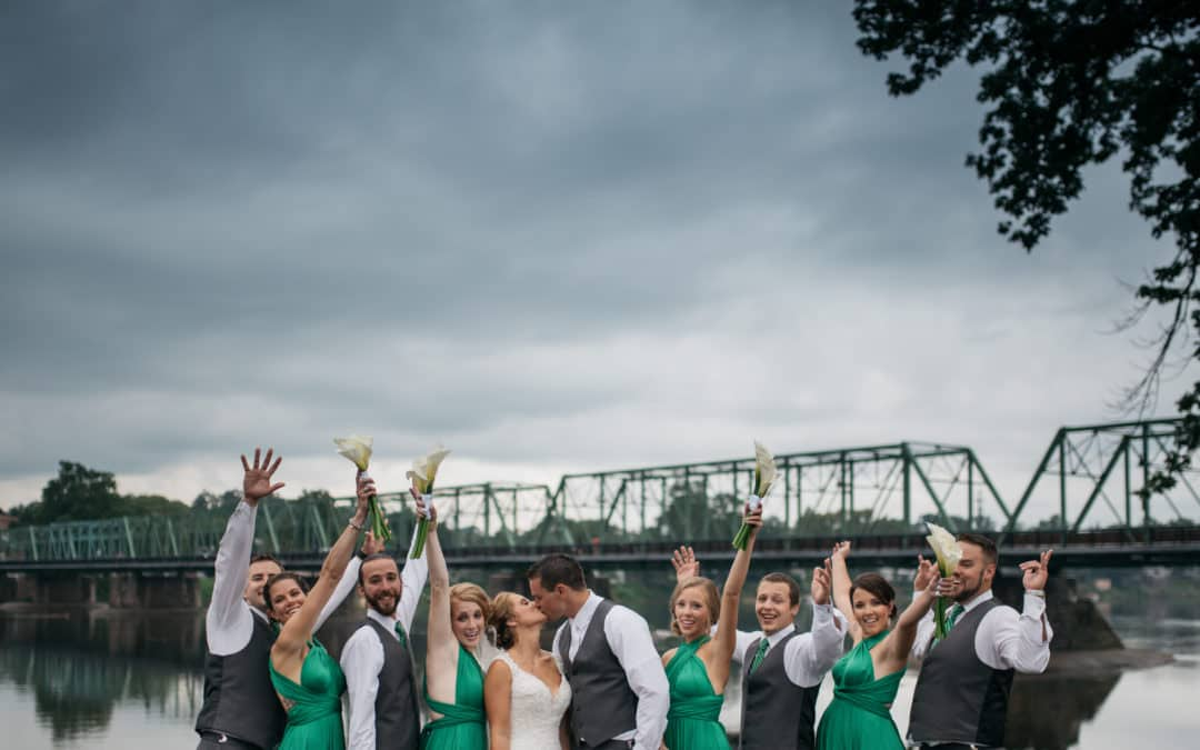 Caitlyn and Mike's Rainy Wedding // Lambertville Station Inn, NJ