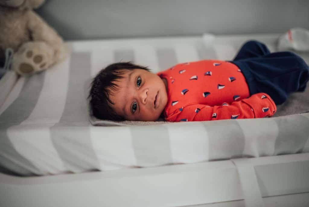 harrison in home lifestyle newborn session