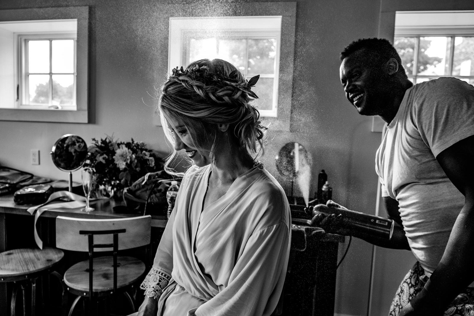 bride prep durham hill farm barn wedding