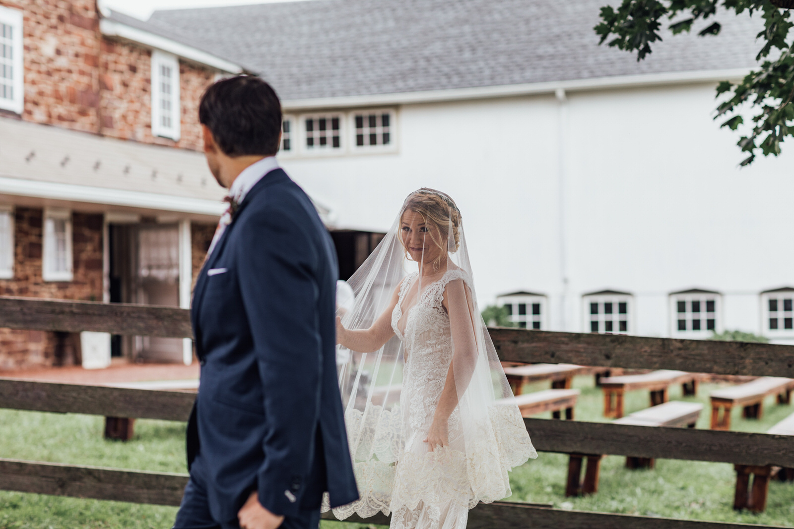 first look durham hill farm weddings