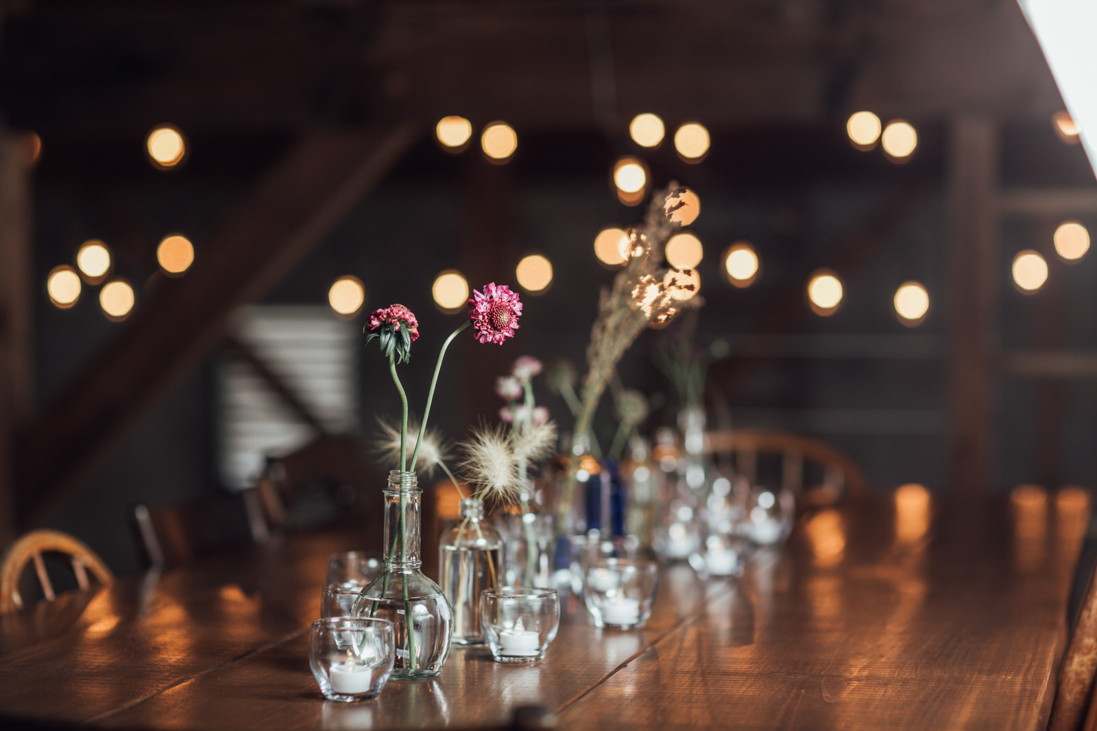 reception details durham hill farm barn wedding venue