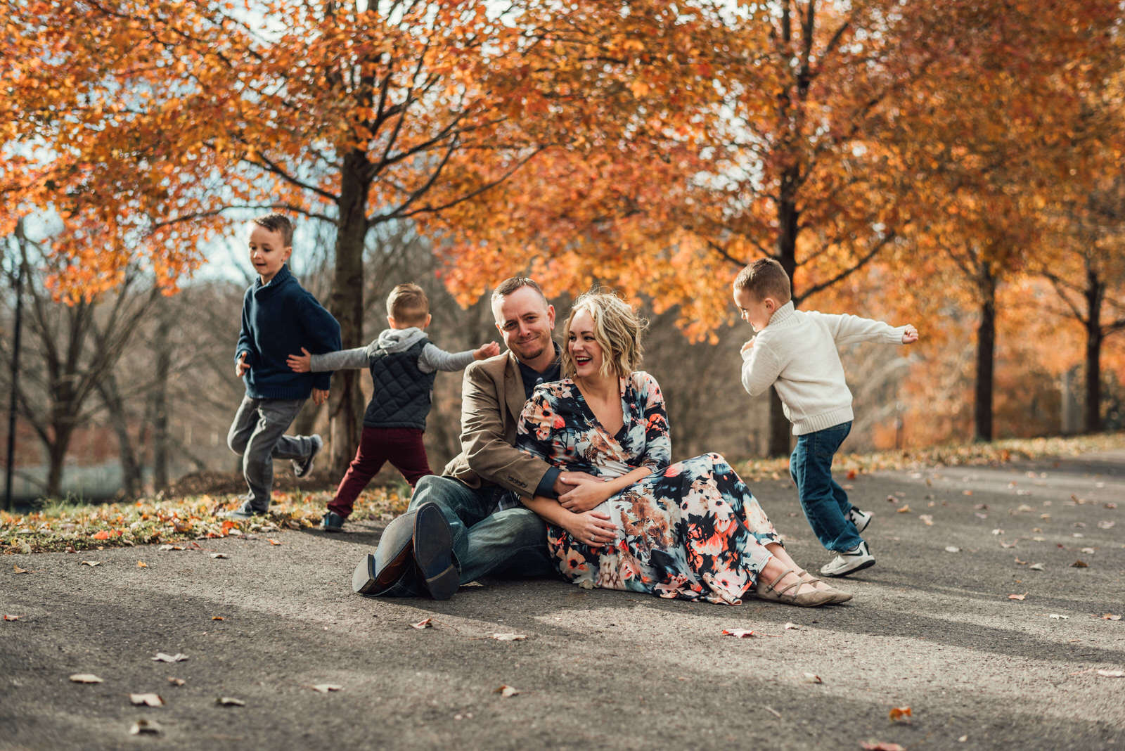 fall family lifestyle session new jersey family photographer