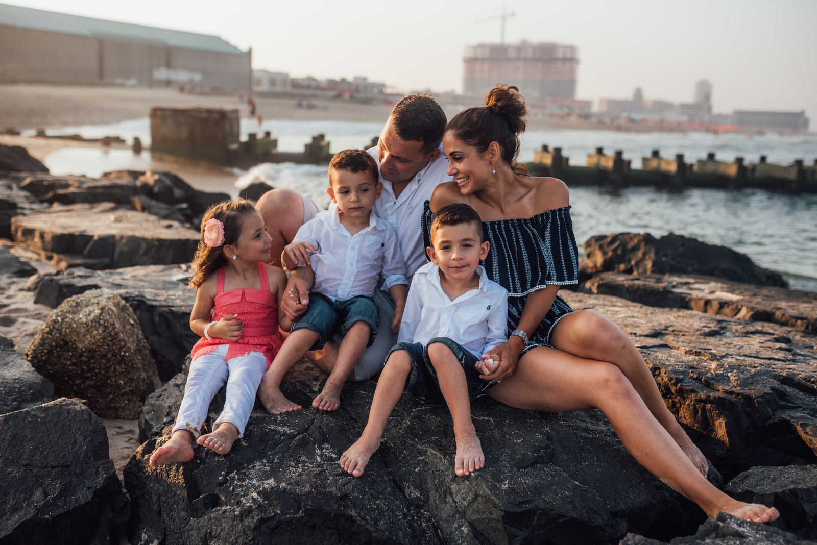 beach family lifestyle session new jersey family photographer